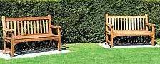 2 timber benches