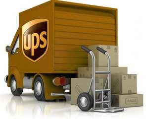 UPS logo and van