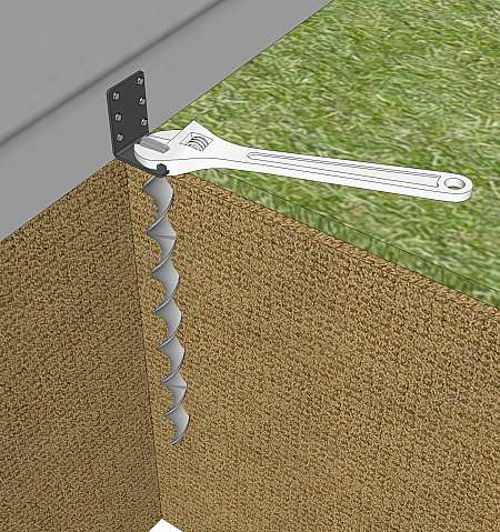 Removing a run-in shed anchor