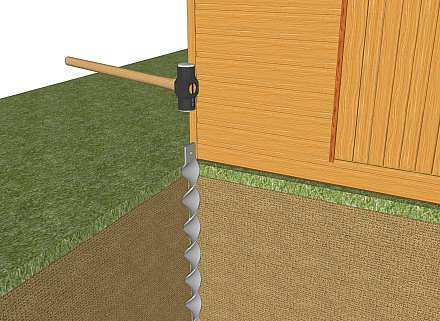 Anchoring a shed - 2