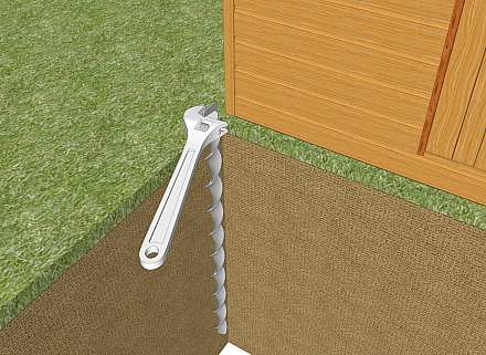 Removing a shed anchor