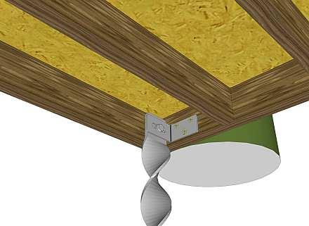 B503 bracket on inside of shed