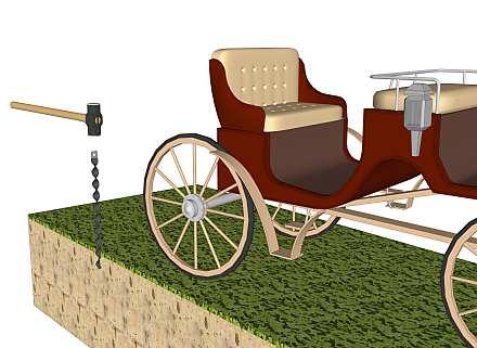 Wagon wheel chaining