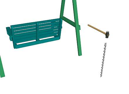 Anchoring a swinging seat