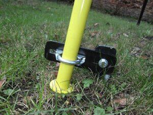 E35 bracket on garden swing set